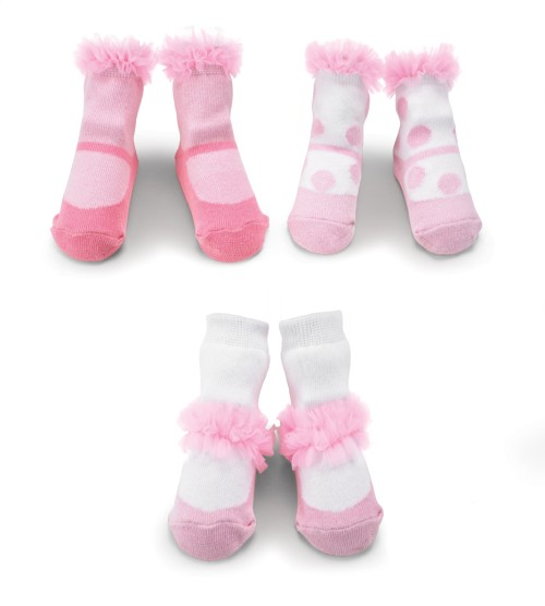 Baby Girl Chiffon Ruffle Sock Set