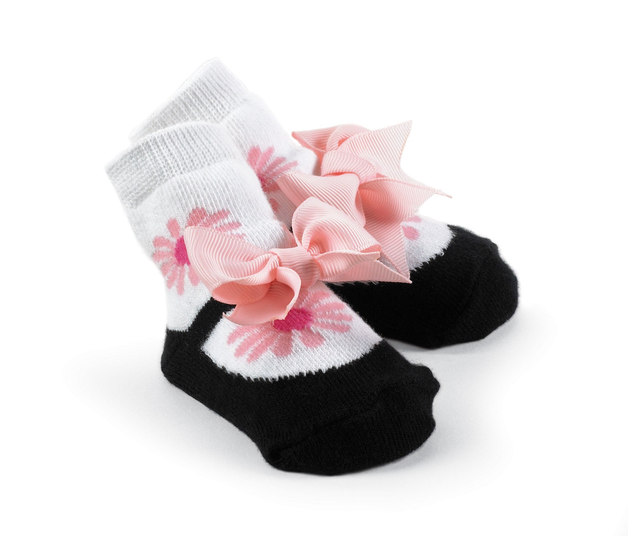 Princess White w/Flower Bow Socks