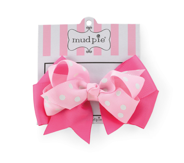Mud Pie Pink Knot Bow