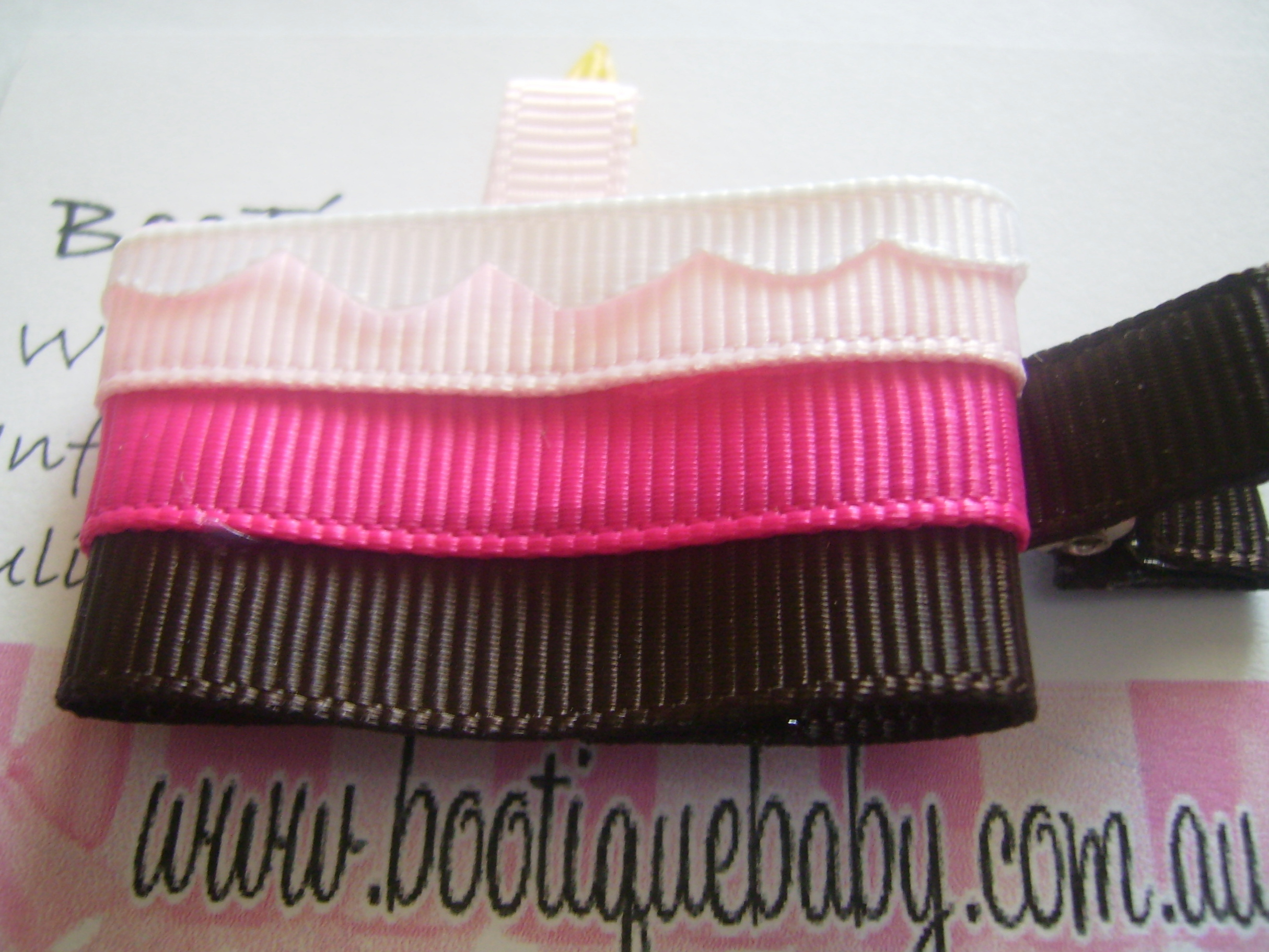 Birthday Cake Hair Clip