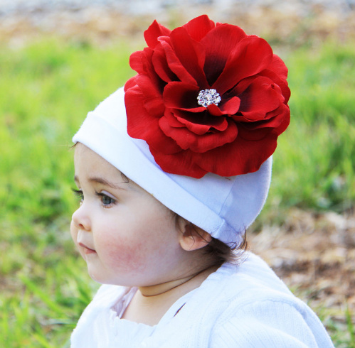 Baby Bling Cotton Flower Hat