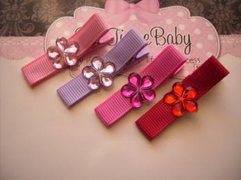 Baby/Girls Flower Bling Hair Clips