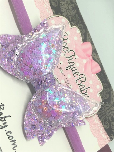 Lavender Angel Wings Bow
