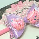 Pink Angel Wings Bow
