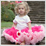 Girls Raspberry/Pink Pettiskirt