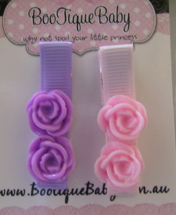 Baby/Girls Rose Hair Clips