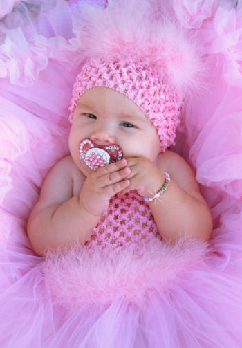 Baby Pink Marabou Crochet Tutu Dress